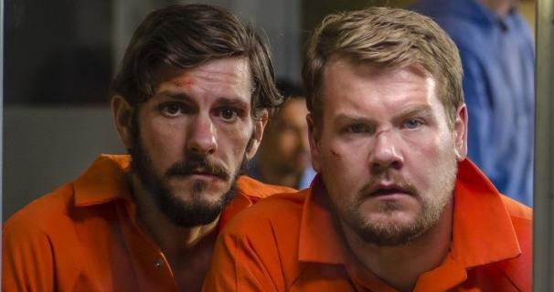James Corden and Matthew Baynton are behind bars in The Wrong Mans series 2
