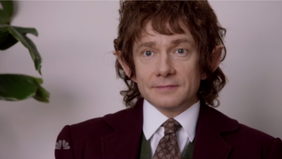 Martin Freeman in The Hobbit Office on SNL