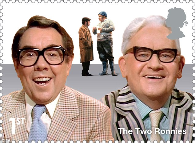 The Two Ronnies get their own stamp from Royal Mail