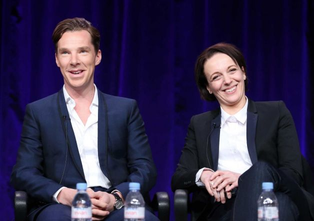 Benedict Cumberbatch and Amanda Abbington at the Winter Television Critics Association Press Tour