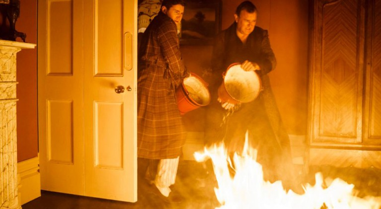 Fire engulfs Lady Edith's bedroom at Downton Abbey