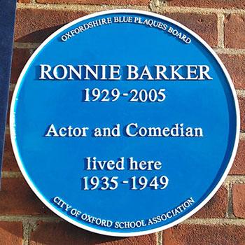 Ronnie Barker comedy blue plaque