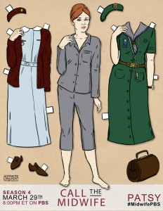 Call the Midwife Patsy Paper Doll