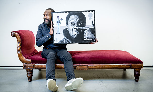 Lenny Henry takes a back seat with his new stamp