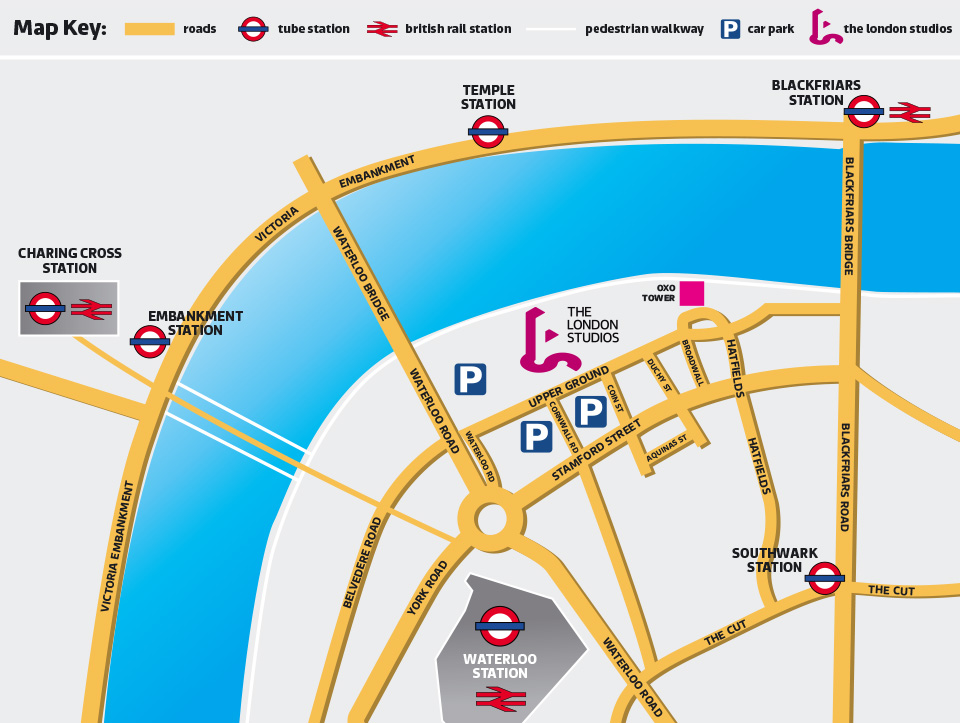 London Studios location map
