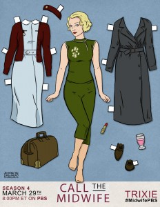 Trixie paper dolls from Call the Midwife