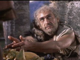 Patrick Troughton as Phineas in Jason and the Argonauts