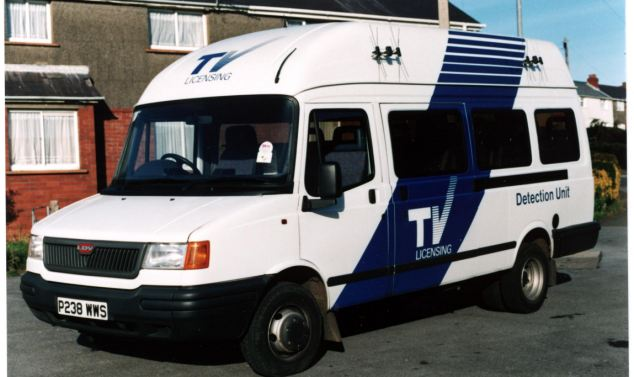 TV Licensing: The latest TV Licensing detector van, a Layland Daf, launched this month to coincide with the Digital revolution. The new vans contain easy to use portable PC's, which as well as detecting are also linked to the TV Licensing database, thus enabling officers to check licence details in seconds.
