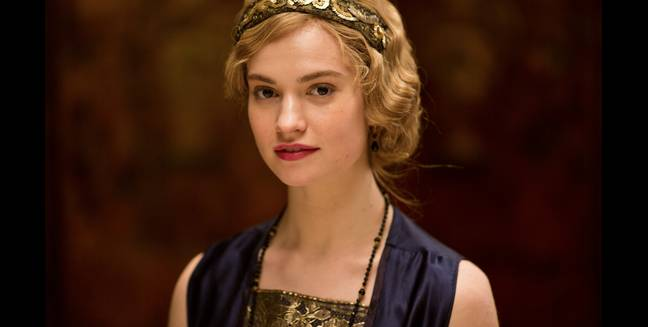 Lily James is Lady Rose MacClare