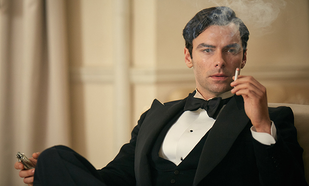 WARNING: Embargoed for publication until 00:00:01 on 03/12/2015 - Programme Name: And Then There Were None - TX: n/a - Episode: n/a (No. 1) - Picture Shows: Philip Lombard (AIDEN TURNER) - (C) Mammoth Screen - Photographer: Robert Viglasky