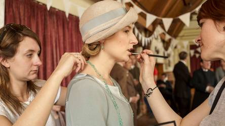 Downton Abbey makeup for Lady Edith
