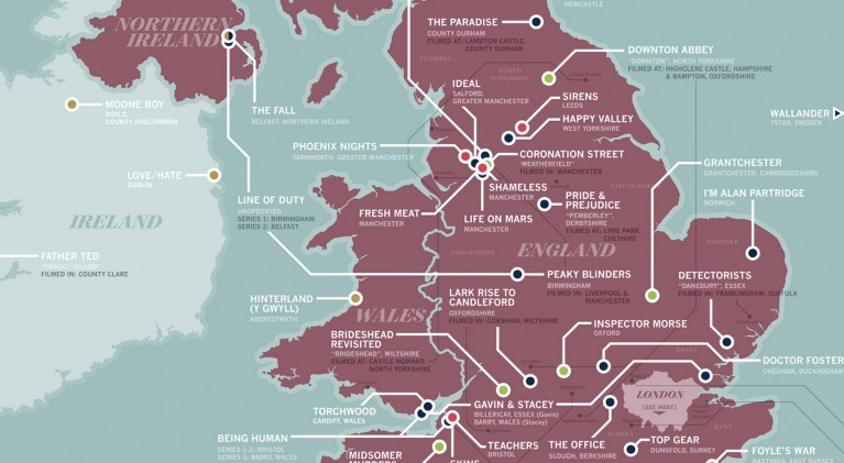 British TV map 2