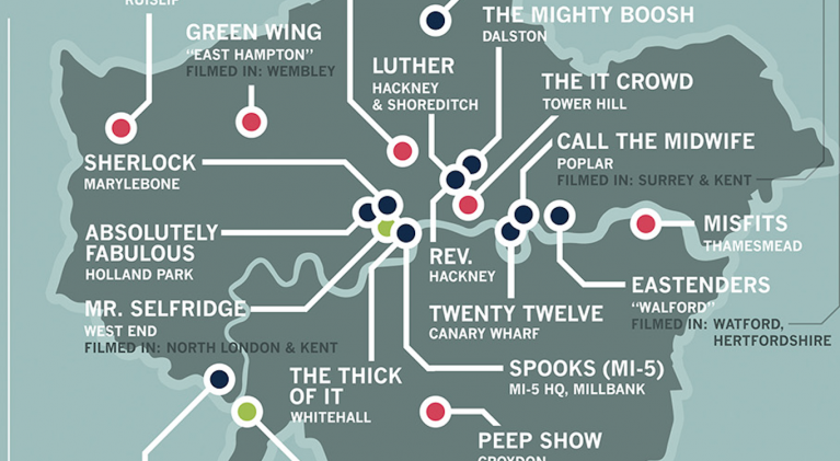 British TV map Greater London
