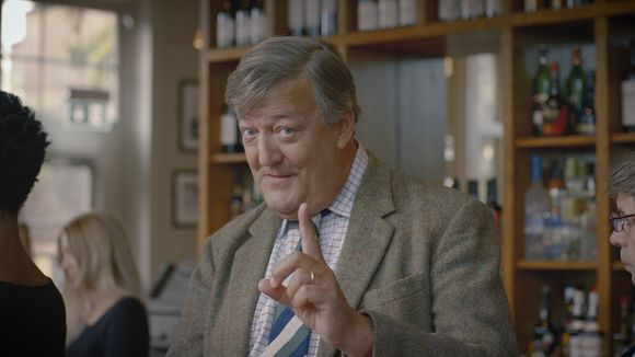 Stephen Fry welcomes Tellyspotting to Heathrow Airport