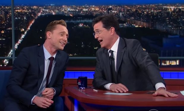 Tom Hiddleston and Stephen Colbert 'See the Light'