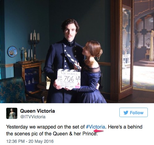 Victoria and Albert signal it's a wrap on Victoria filming