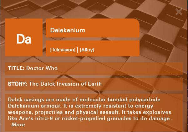 Da - Doctor Who periodic table element