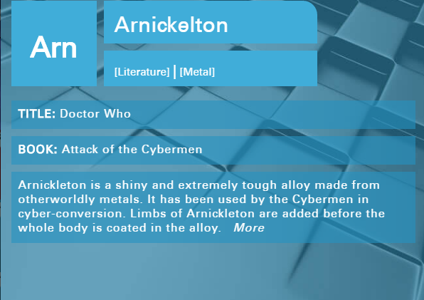 What are Cybermen made of