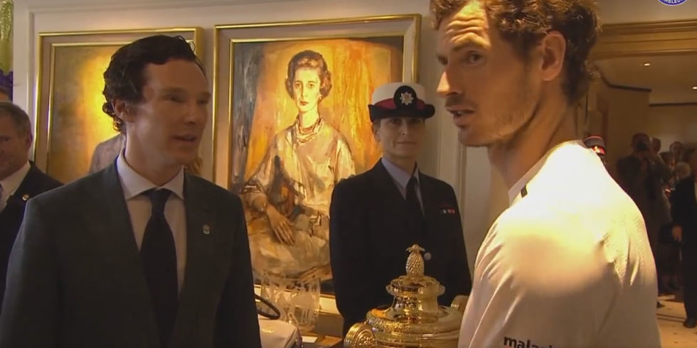 Andy Murray Benedict Cumberbatch Wimbledon