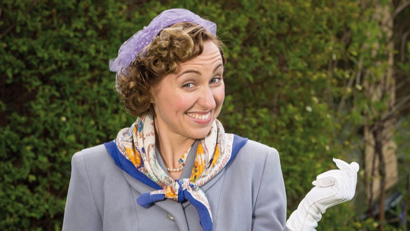 Kerry Howard as a young Hyacinth