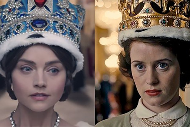 Jenna Coleman as Queen Victoria and Claire Foy as Queen Elizabeth II