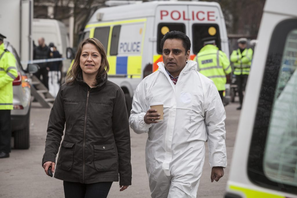 Nicola Walker and Sanjeev Bhaskar in Unforgettable