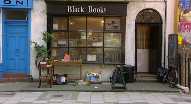 Support your local independent bookstore with a visit to 'Black Books', a.k.a. Collinge & Clark
