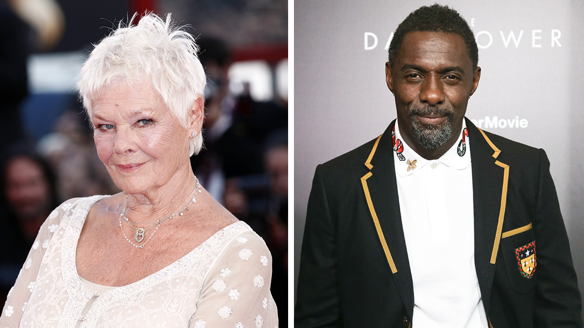 Actors Dame Judi Dench and Idris Elba