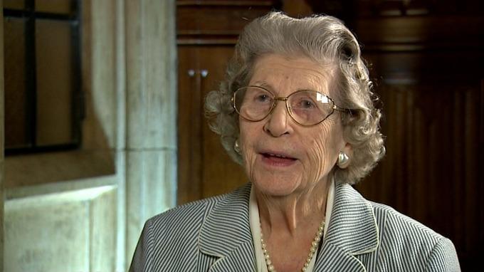 Jean Campbell-Harris, aka Baroness Trumpington of Sandwich