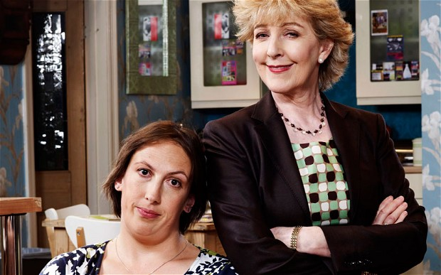 Miranda Hart and Patricia Hodge in Miranda. Photo: BBC