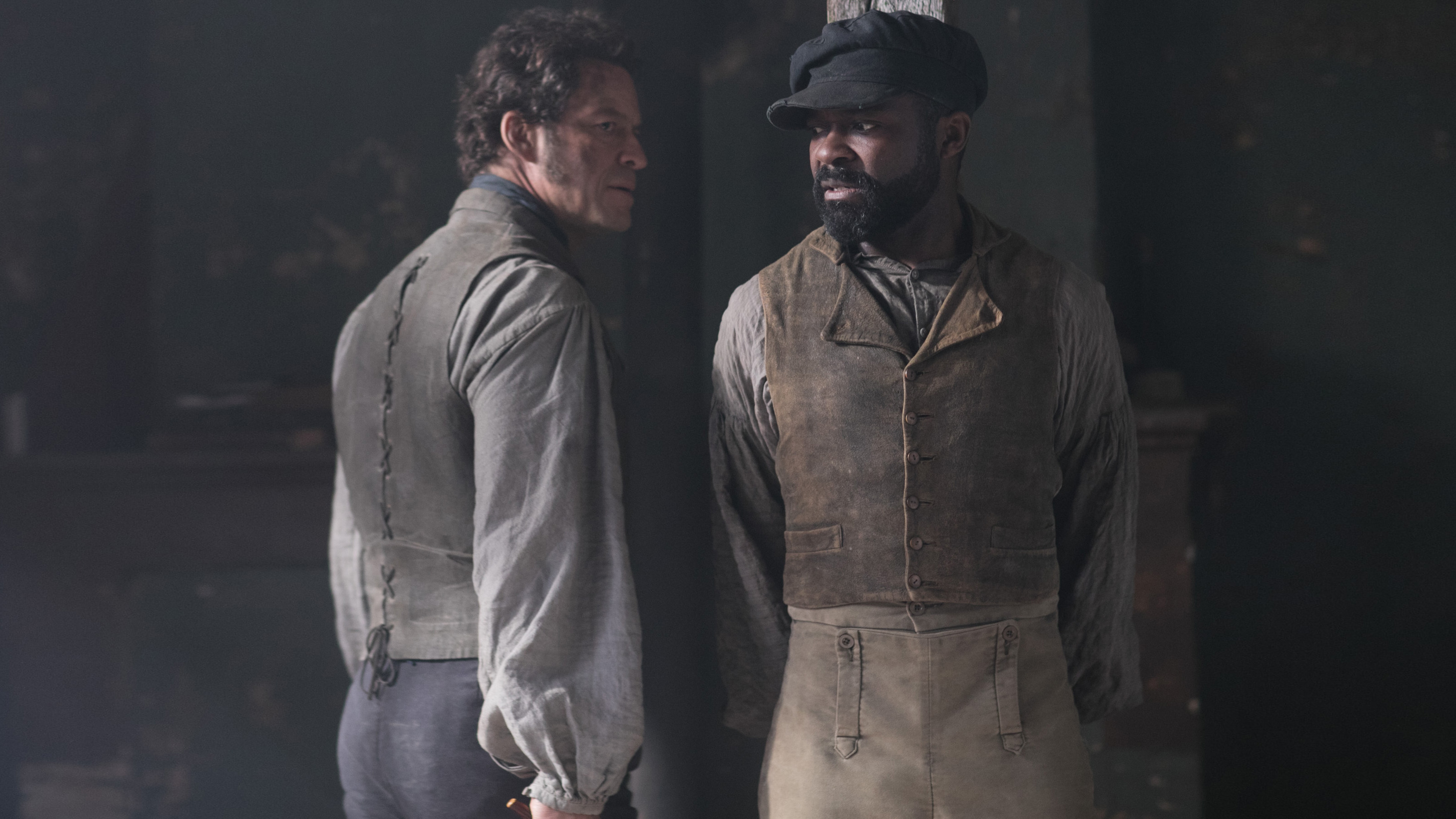 Dominic West and David Oyelowo / Credit: Courtesy BBC Masterpiece