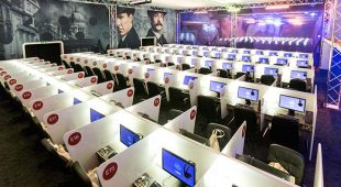 Booths where BBC Showcase attendees screen BBC program offerings (Credit: BBC Showcase)