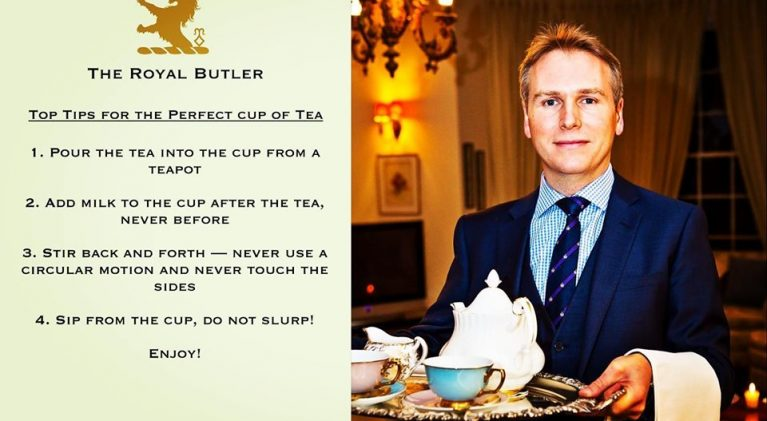 "The 'Defender of Etiquette', Grant W.V. Harrold, kicks off ""Afternoon Tea Week"""