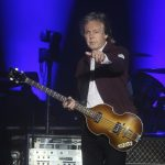 Sir Paul McCartney spotted making his own guitar picks with flattened pennies