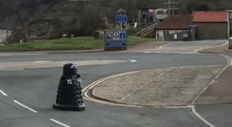 Things get real in the UK as Daleks called out to enforce self-isolation and social distancing!
