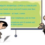 Class, pay attention! It's Mr. Bean's Essential COVID-19 Checklist!