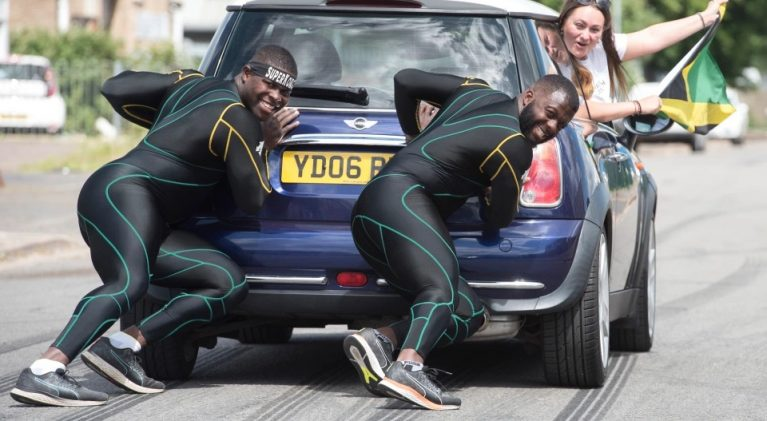 One is amused over RAF gunner/Jamaican bobsleigh squad member's lockdown regimen