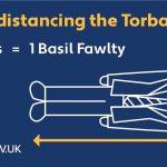 Social distancing — The Torbay way! 2 metres = 1 Basil Fawlty!