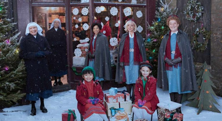 Speed dating, a former guest star and camera trickery take center stage for 'Call the Midwife Christmas Special' 2020