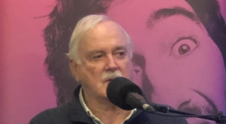 Basketball Gods align as the Utah Jazz and long-time fan, John Cleese, are in Phoenix on the same day!