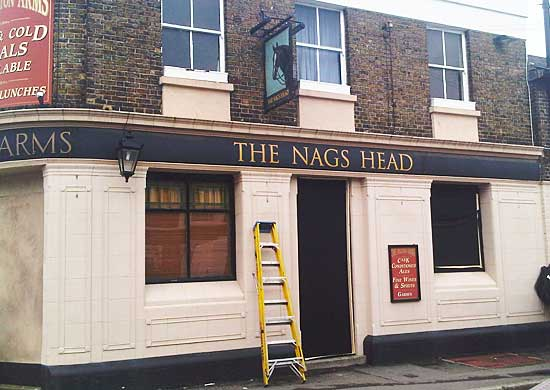 83p pints at the 'OFAH' Nags Head pop-up in September